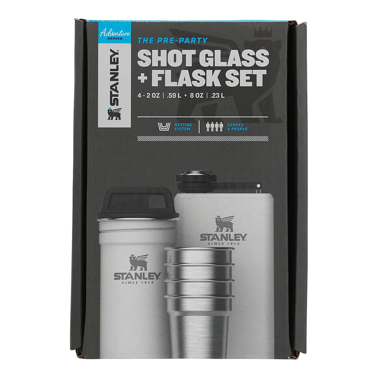 ADVENTURE SHOT & FLASK GIFT SET 236 ml
