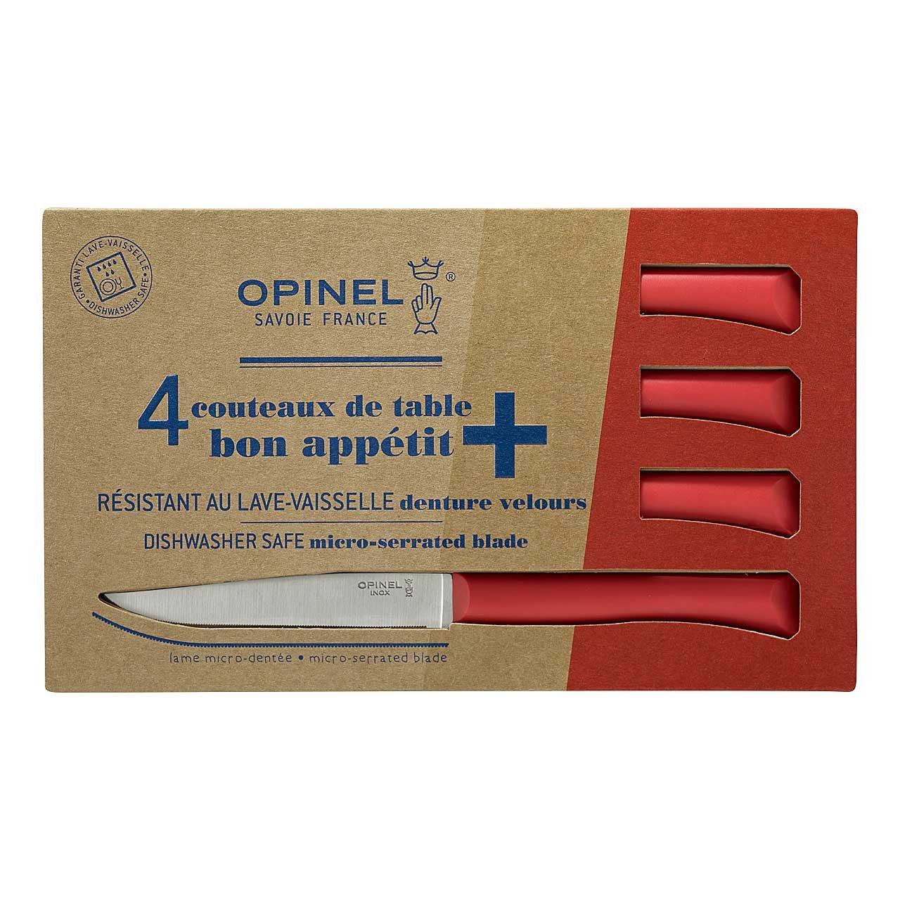Tafelmesser Bon Appetit+, rot, 4er Set
