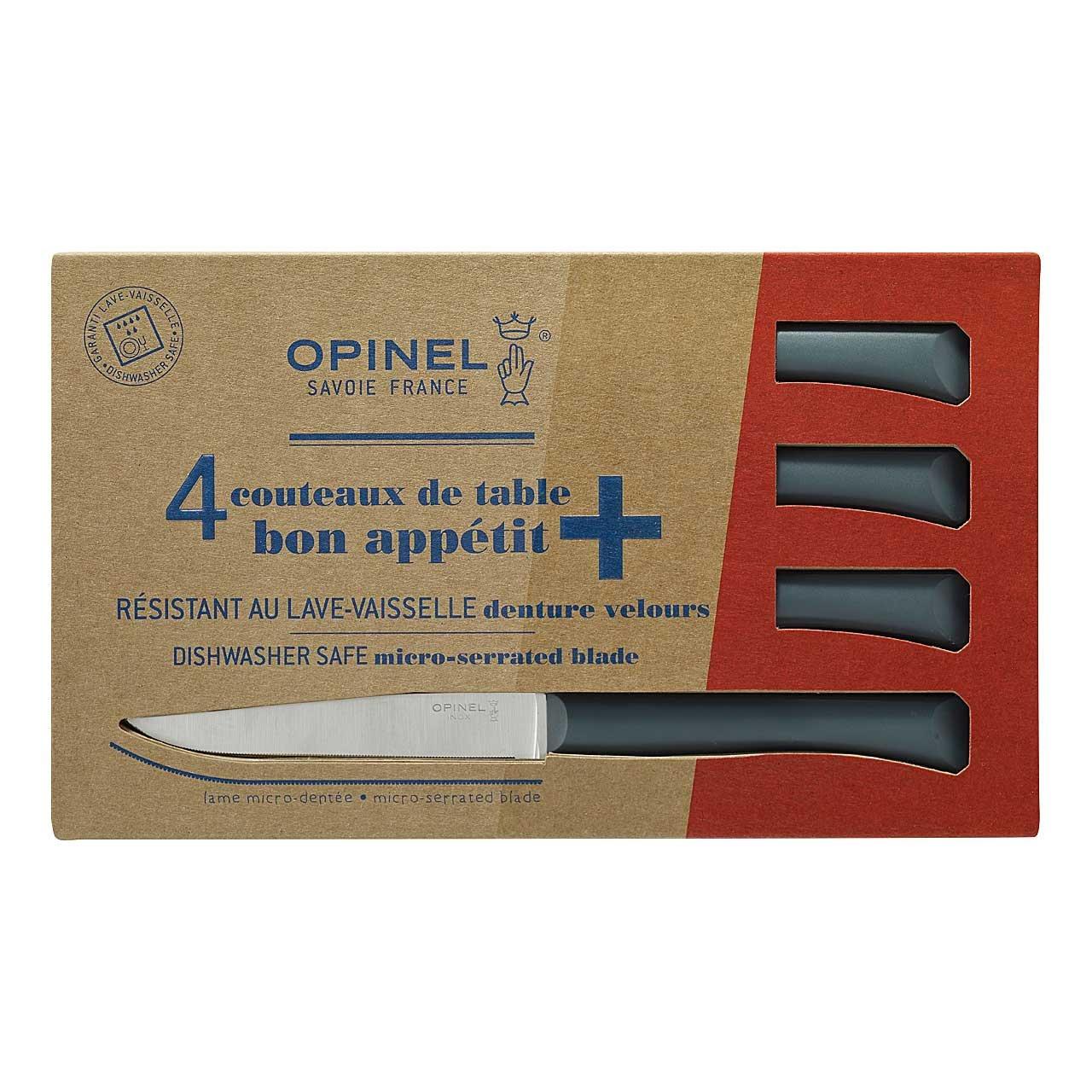 Tafelmesser Bon Appetit+, anthrazit, 4er Set