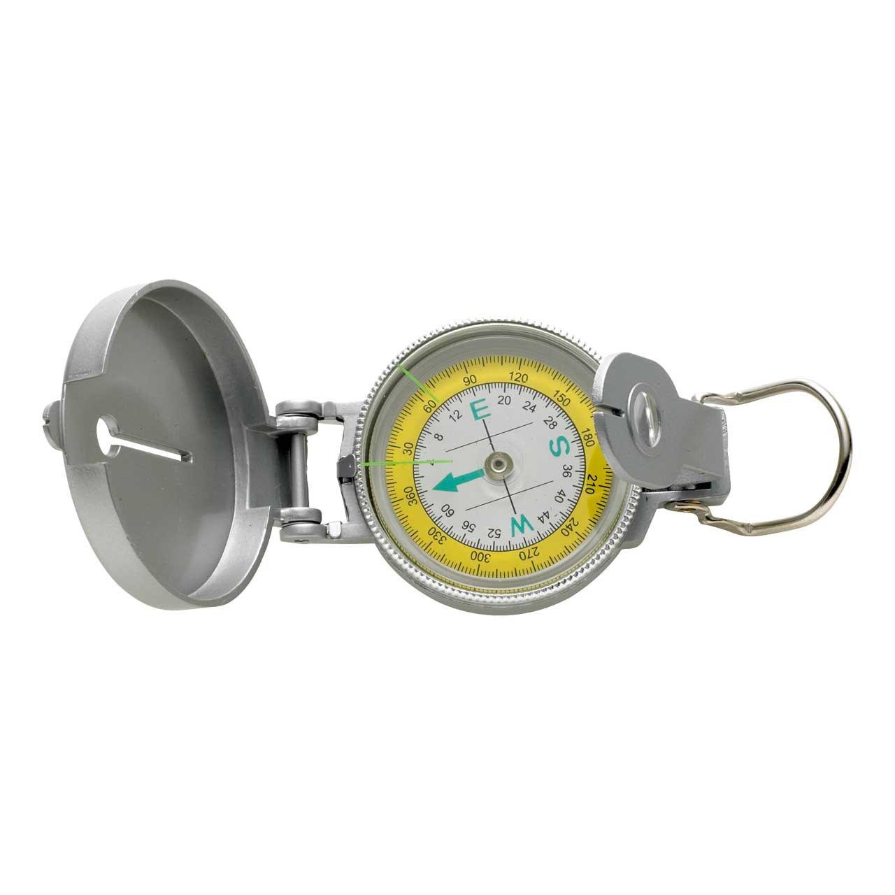 Kompass, Metallgehäuse, silberfarbig